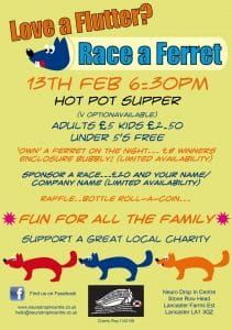 Support for our Ferret race Night !